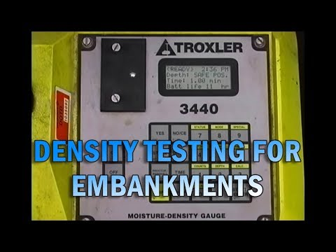 Density Testing For Embankments-1999