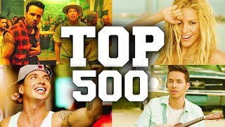 top 500 most popular spanish songs of all time