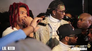 Lil Keed Performance,Young Thug Shows Up To Support His Newest Ysl Member