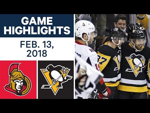 NHL Game Highlights | Senators vs. Penguins – Feb. 13, 2018