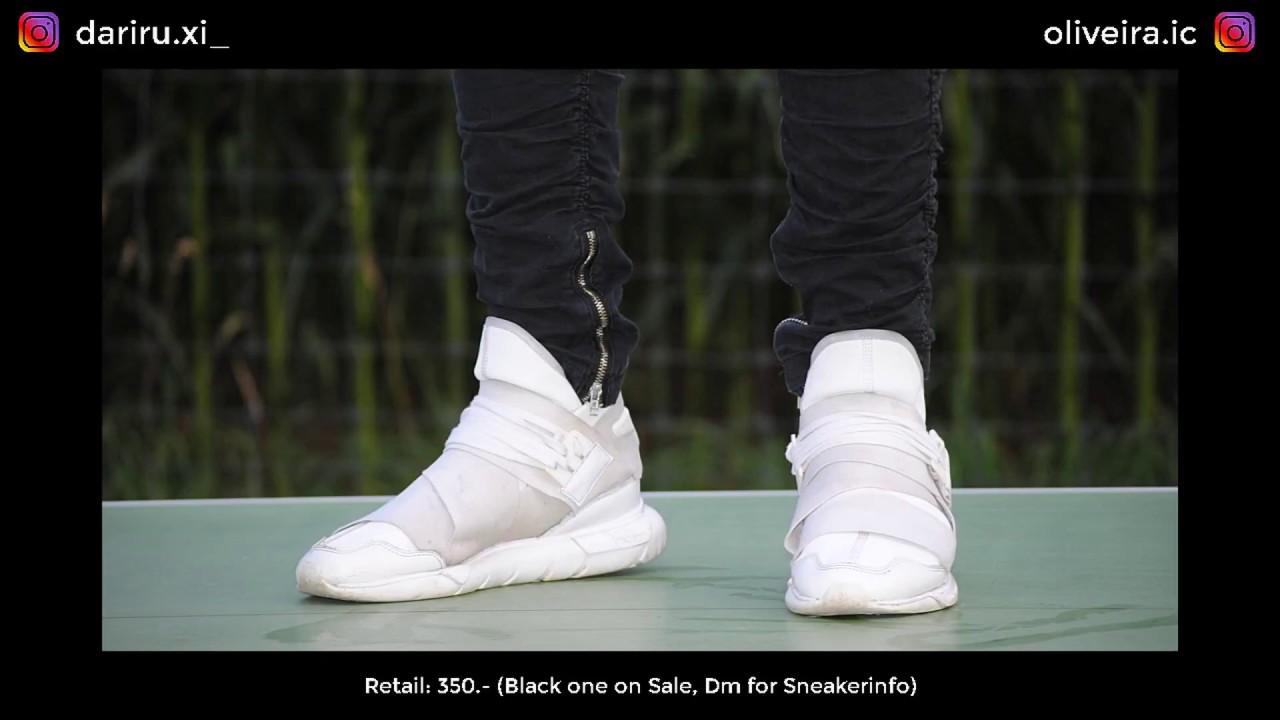 a8cc9051e Y-3 Qasa High Review + Fit (BLACK+WHITE) - YouTube