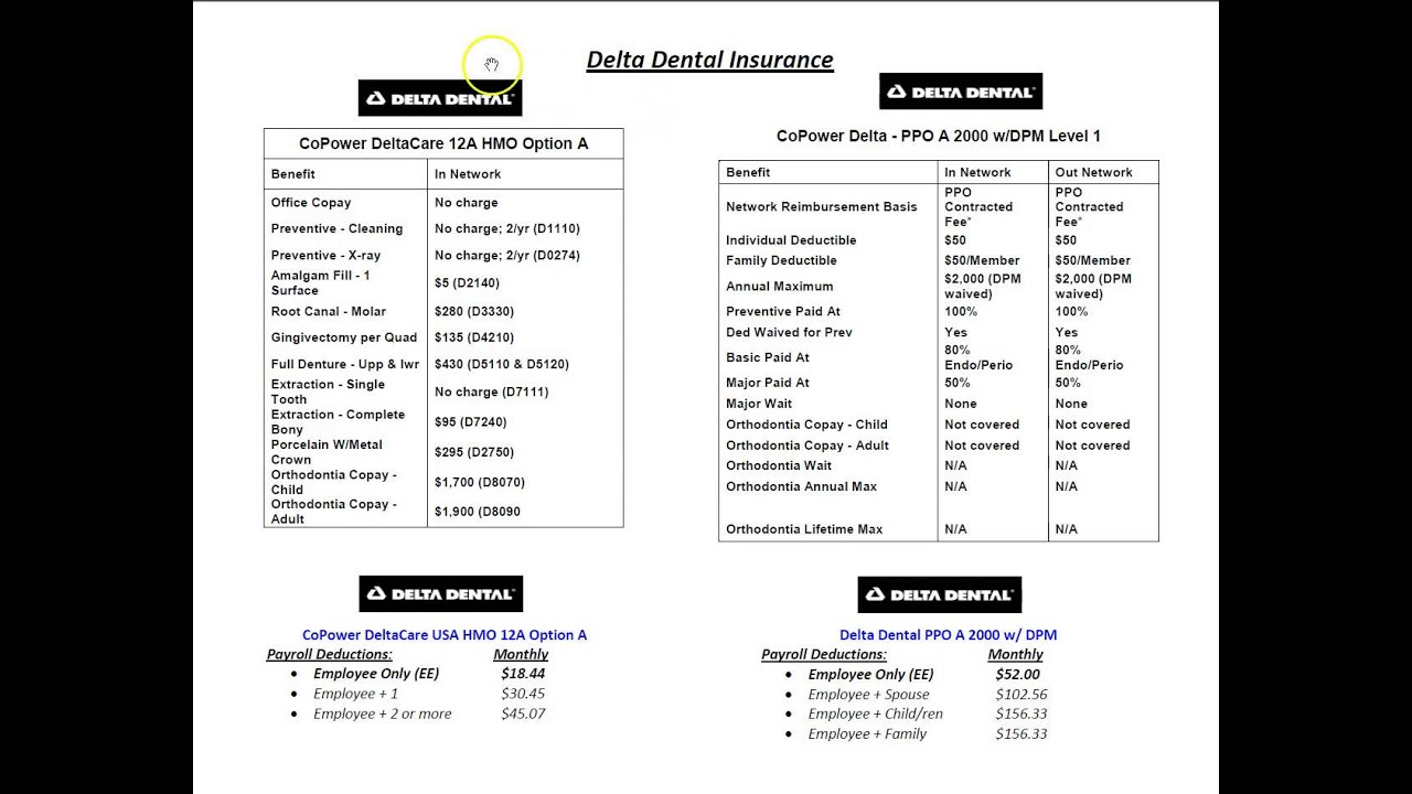 Copower Delta Dental Hmo And Ppo Plans Youtube