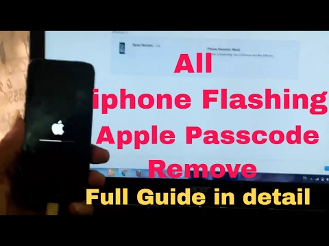 [Hindi/Urdu] iPhone 4,4s,5,5s,6,6S,6S+,7,7s, Flashing | Step by Step guide  | Apple Passcode Unlock