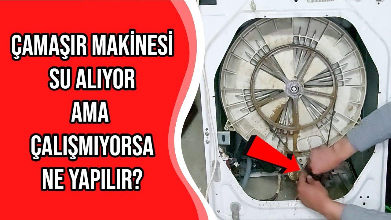 Çamaşır Makinesi Su Alıp Bekliyor - Kazan Dönmüyor - Motor Kömürü - Fırça - Nasıl Değiştirilir