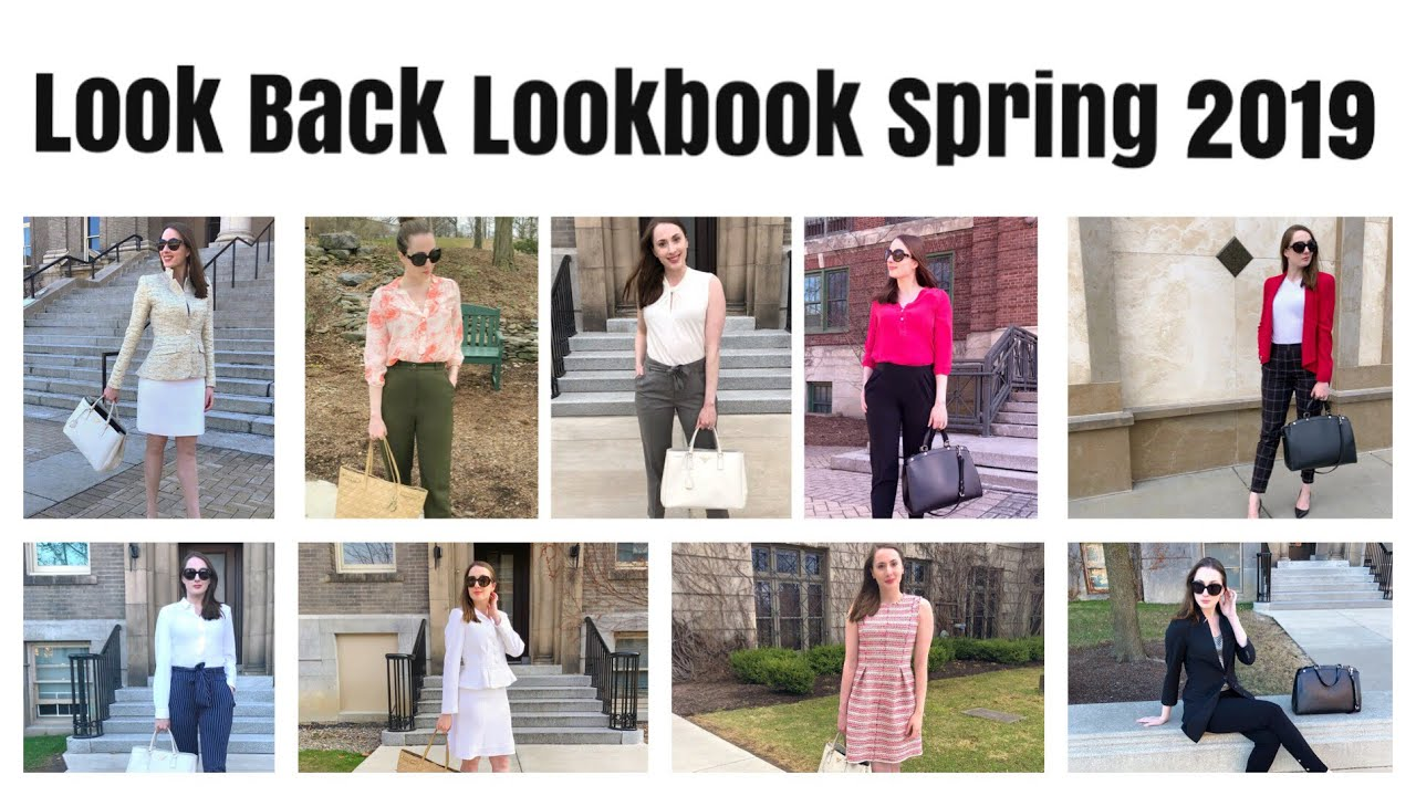Spring 2019 Look Back Lookbook   What I Actually Wore To Work