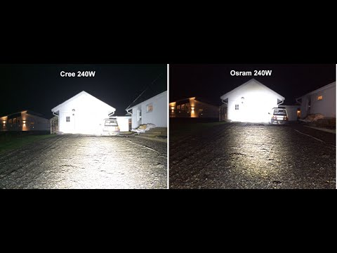 Led Bar Review Cree 24x10w Vs Osram 48x5w 240w Youtube