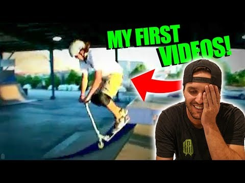 REACTING TO MY FIRST SCOOTER VIDEOS!