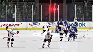 NHL 11 Gameplay | Be A Pro Goalie Mode