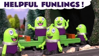 Funny helpful Funlings at McDonalds and with Thomas and Friends toy trains TT4U