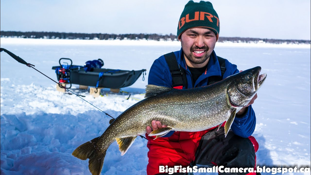 February 2014 lake simcoe ice fishing watch in hd youtube for Lake simcoe fishing