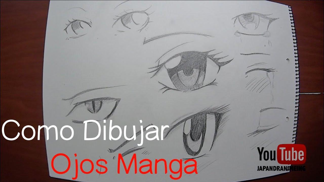 Como dibujar ojos manga para principiantes youtube - Ojos ahumados para principiantes ...