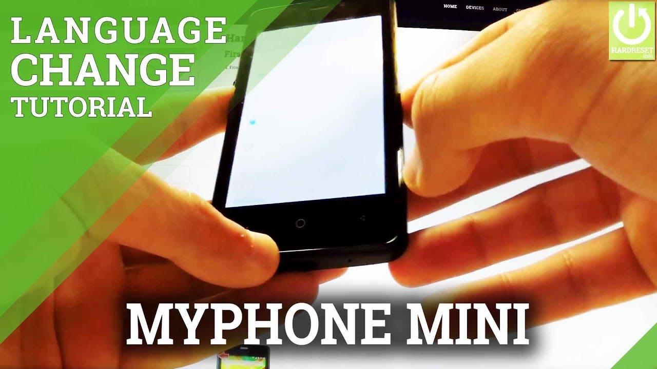 Change Language myPhone Mini - Language Settings in myPhone