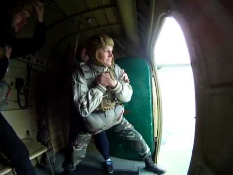 Первый прыжок с парашютом Д-6 со стабилизацией
