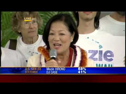 Mazie Hirono makes first speech since results update; thanks supporters and mentors
