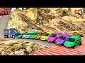 Pushing Cars Off The Mountain And Steps (scary Crashes) BeamNg Drive