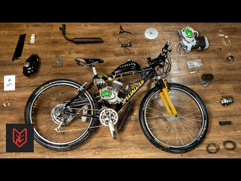 How to Build a 2-Stroke Motorized Bicycle in 6 Minutes thumbnail