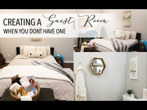 How To CREATE The PERFECT GUEST ROOM    NO GUEST BEDROOM    Holiday Guests