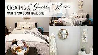 How to CREATE the PERFECT GUEST ROOM || NO GUEST BEDROOM || Holiday Guests