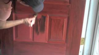 Faux Wood Grained Door