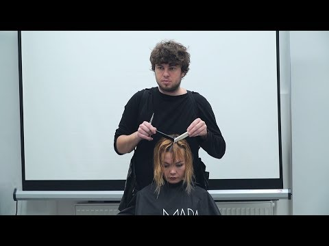 hairdresser's education workshop for salon team