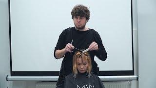hairdresser's education workshop for salon team