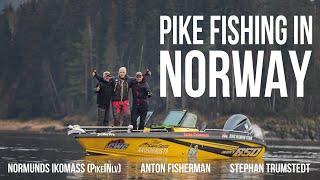 Рыбалка в Норвегии Pike Fishing in Norway with Stefan Trumman Trumstedt and Normunds Ikomass