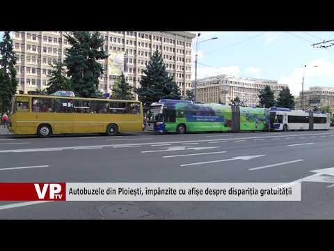Autobuzele din Ploiești, împânzite cu afișe despre dispariția gratuității