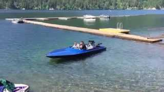 950hp Jet Boat startup and takeoff