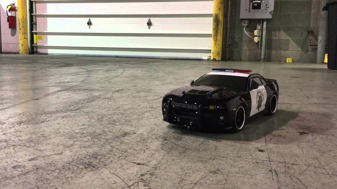 Rc Police Car With Remote Lights And Siren Youtube