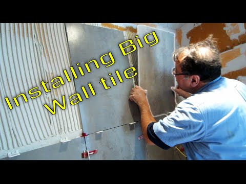 Steam Shower Part 5 Installing the large format wall tile  with T-Lock™