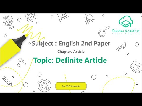 2  English 2nd Paper SSC   Article   Definite Article