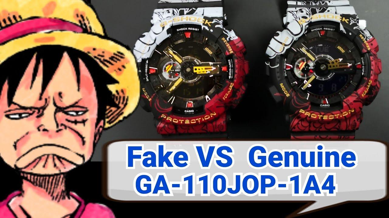 Fake VS Genuine วิธีการดูของเเท้-ปลอม G-Shock One Piece GA-110JOP-1A4 ร้านนี้ขายเเต่ของเเท้เฟ้ย