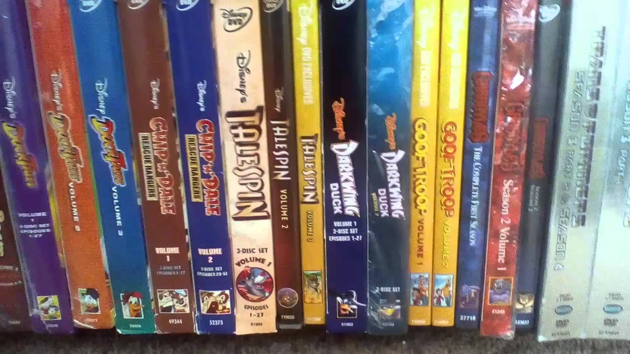 my updated disney afternoon dvd collection youtube