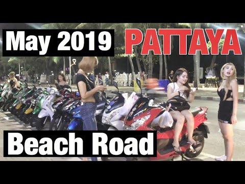 Pattaya BEACH ROAD - May 2019 Freelance Thai Girls