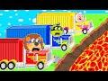 The Floor is Lava #2. Super Trucks | Lion Family | Cartoon for Kids