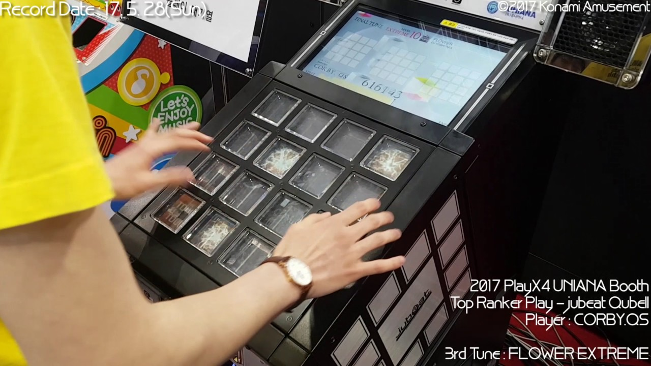 2017 PlayX4 UNIANA Booth Top Ranker Play - jubeat Qubell(Modified)