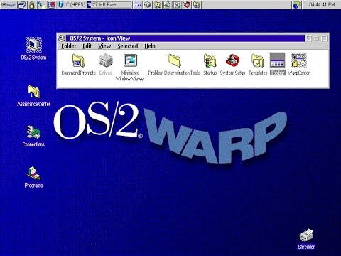 Microsoft IBM OS/2 Warp 4 Virtualbox Installation and first look