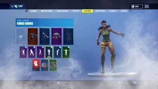 Fortnite *new* Criss Cross emote with all my skins
