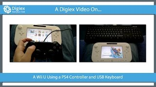 PS4 Controller & USB Keyboard On A Wii U Playing Mario Kart 8
