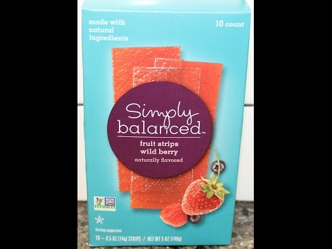 Simply Balanced: Wild Berry Fruit Strips Review