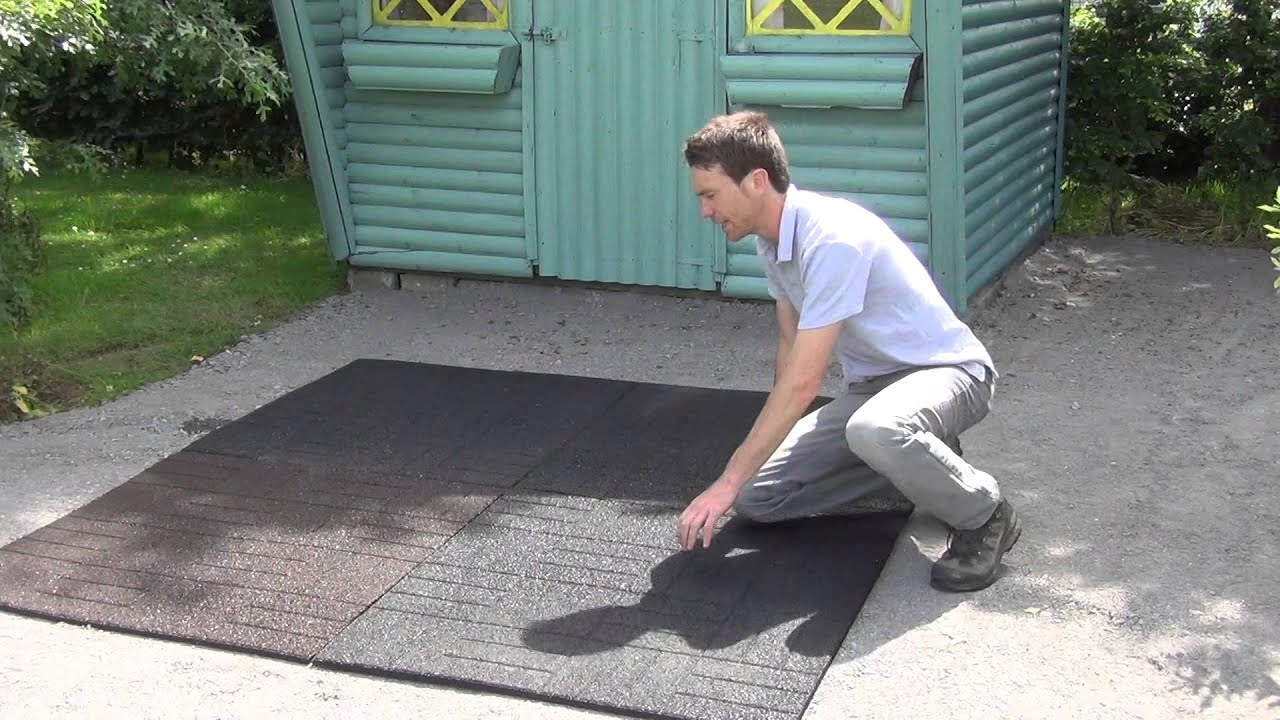 Rubber Patio Tiles - YouTube