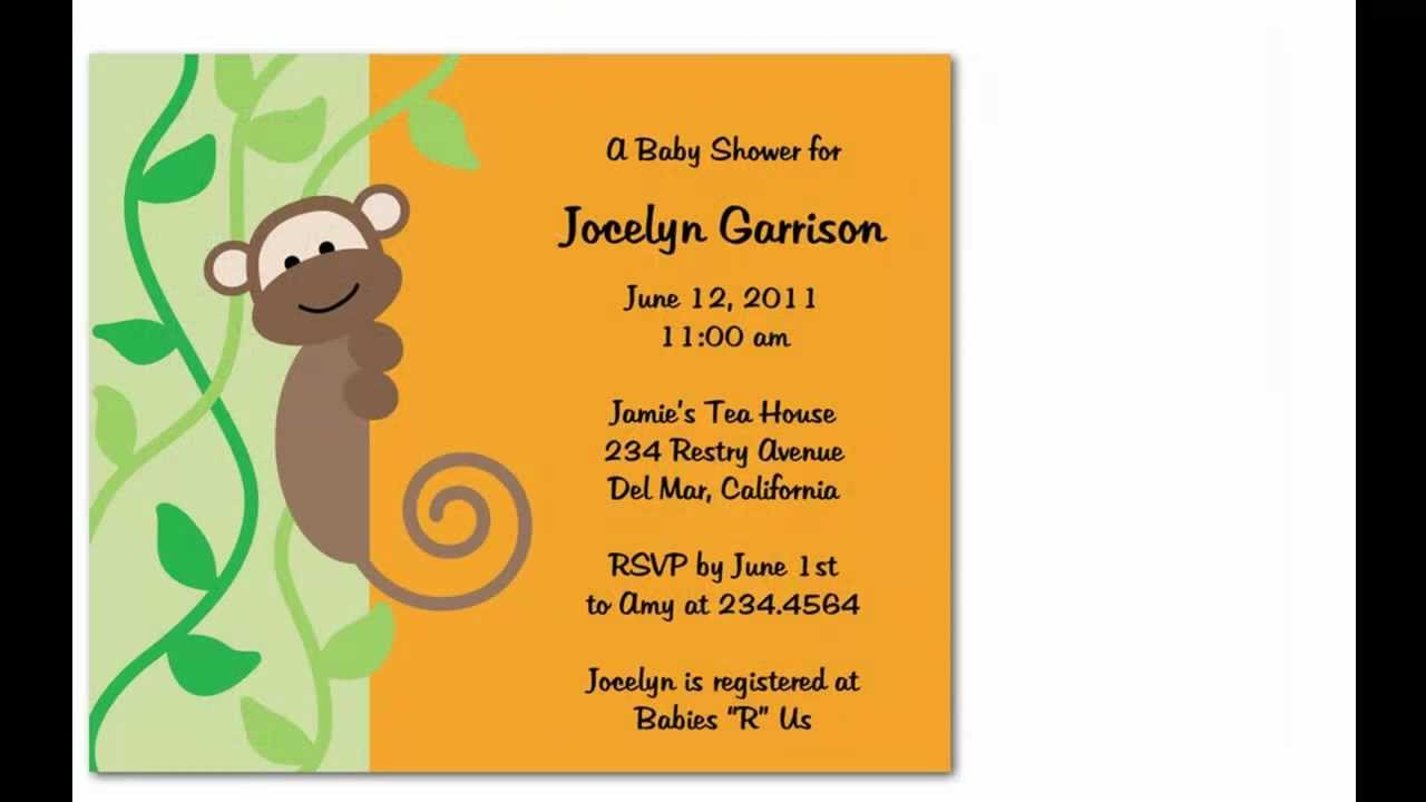 Cheeky Monkey Birthday Party Invitations You\'re Kids Will Surely ...