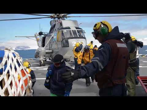 Rompehielos ARA Almirante Irízar: recambio dotación Base Esperanza