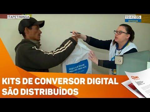Kits de conversor digital são distribuídos - TV SOROCABA/SBT