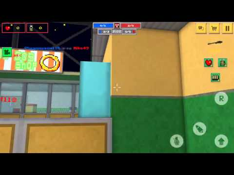 [Block Force - Pixel Style Gun Shooter Game] The noob glitch with a bomb
