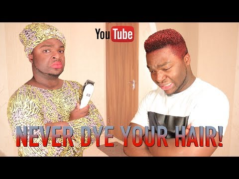 NEVER DYE YOUR HAIR IN AN AFRICAN HOME!