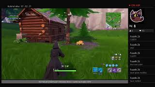 Fortnite LiveStream-English! Giveaway any item shop when you have 50 subscribers!