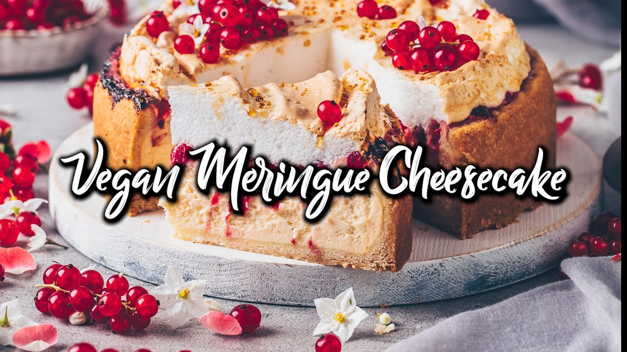 Vegan Meringue Cheesecake with Red Currants * Recipe