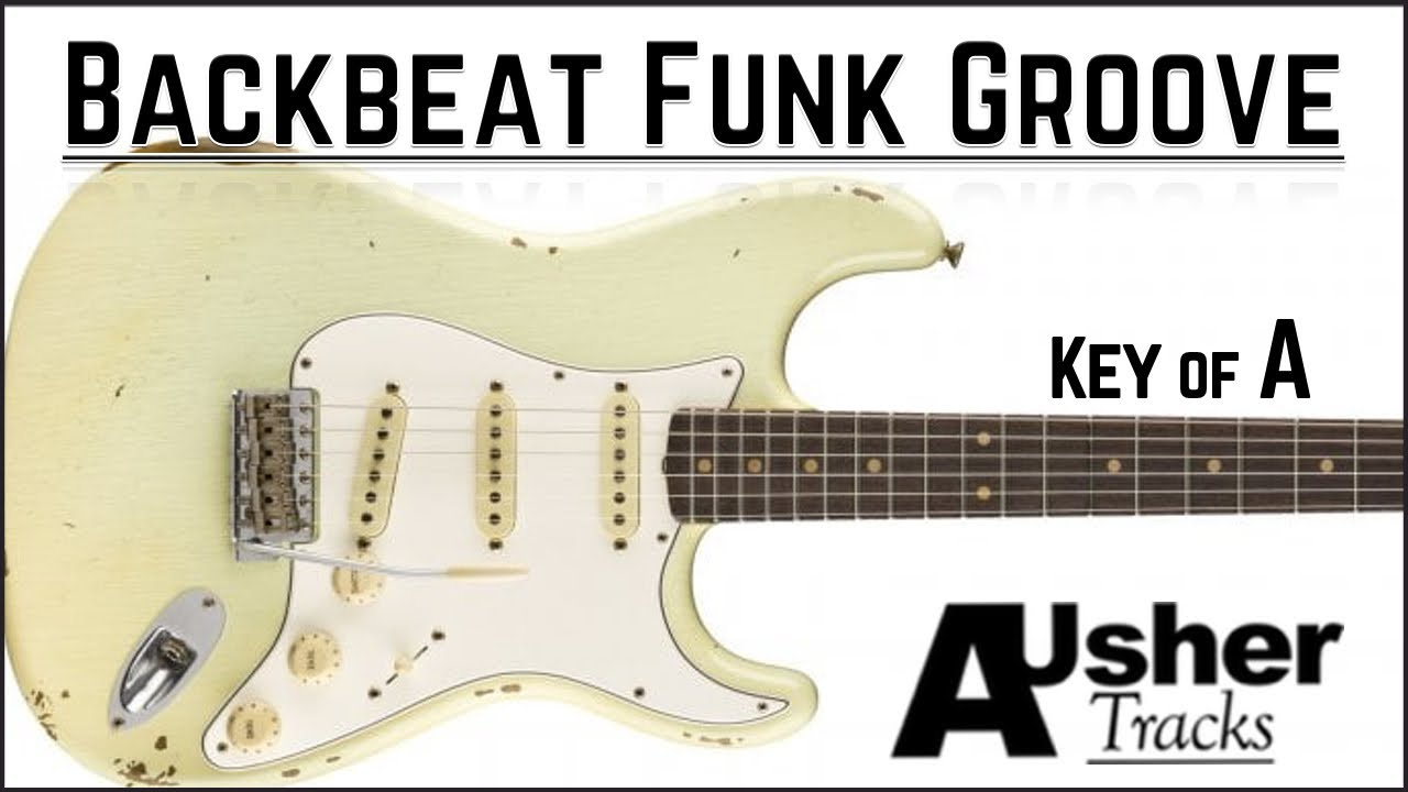 Backbeat Funk RnB in A | Guitar Backing Track