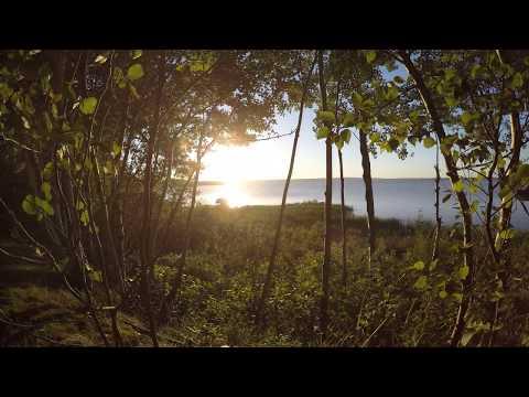 Sunset at Paradise Cove Resort on Whitefish Lake, Alberta